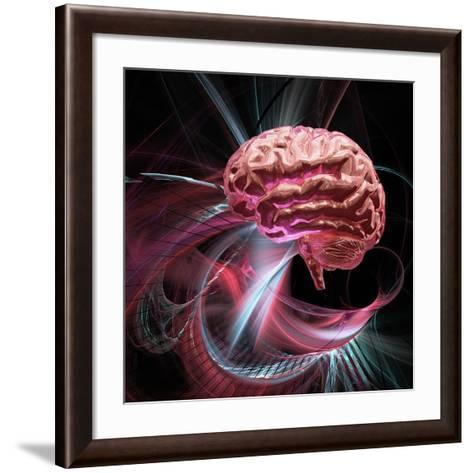 Brain Research, Conceptual Artwork-Laguna Design-Framed Art Print