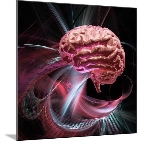 Brain Research, Conceptual Artwork-Laguna Design-Mounted Photographic Print