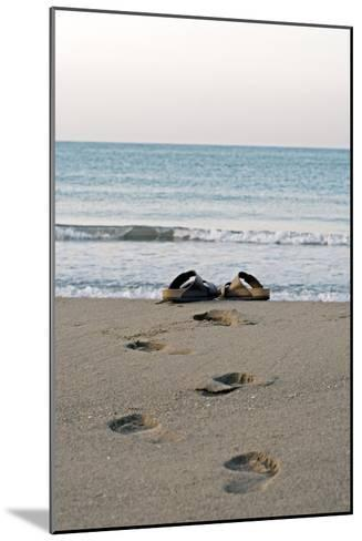 Sandals on a Beach, Spain-Carlos Dominguez-Mounted Photographic Print