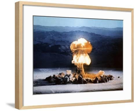 Atomic Bomb Explosion-u.s. Department of Energy-Framed Art Print