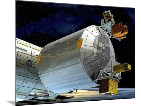 Columbus Module of the ISS, Artwork-David Ducros-Mounted Photographic Print