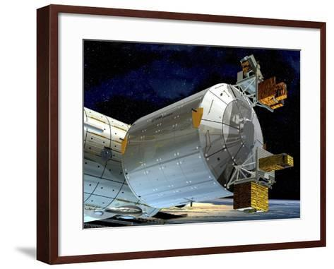 Columbus Module of the ISS, Artwork-David Ducros-Framed Art Print
