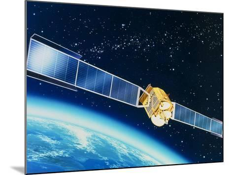 Artwork of the Telecom 1A Communications Satellite-David Ducros-Mounted Photographic Print