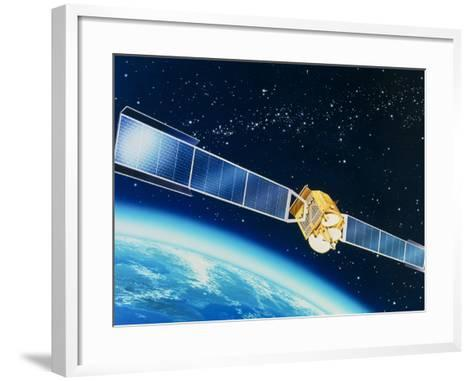 Artwork of the Telecom 1A Communications Satellite-David Ducros-Framed Art Print