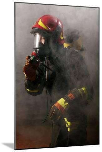 Firefighter-Mauro Fermariello-Mounted Photographic Print