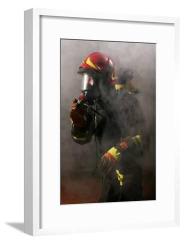 Firefighter-Mauro Fermariello-Framed Art Print