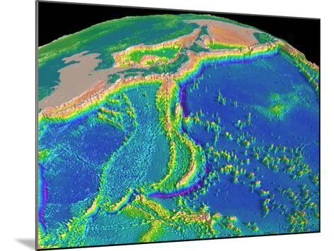 Mariana Trench Sea Floor Topography-us Geological Survey-Mounted Photographic Print