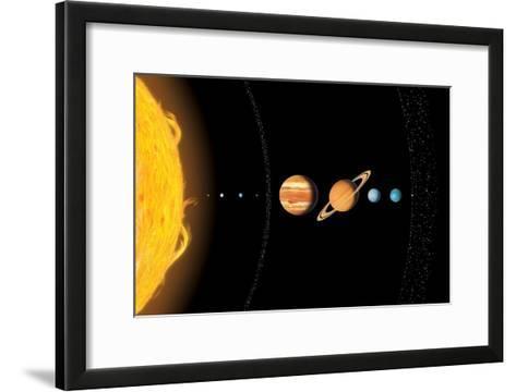 Solar System Planets, Artwork-Gary Gastrolab-Framed Art Print