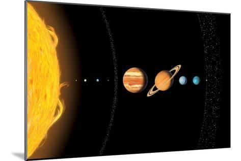 Solar System Planets, Artwork-Gary Gastrolab-Mounted Photographic Print
