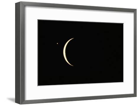 Photo of Venus & Crescent Moon-Fred Espenak-Framed Art Print