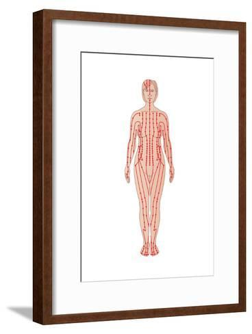 Acupuncture Points, Artwork-Peter Gardiner-Framed Art Print