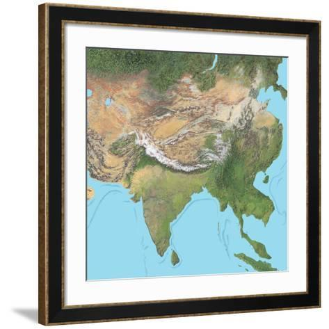 Map of Asia-Gary Gastrolab-Framed Art Print
