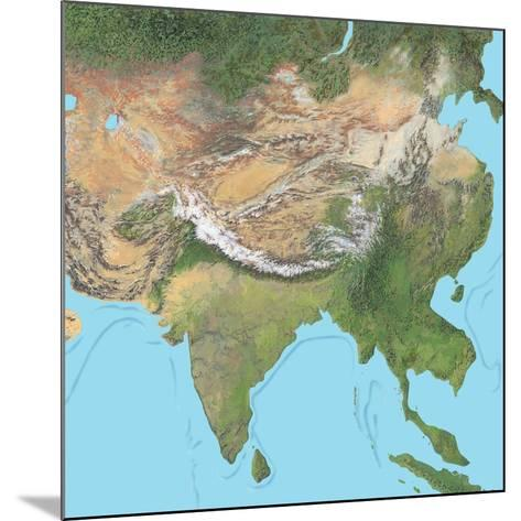 Map of Asia-Gary Gastrolab-Mounted Photographic Print