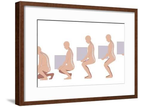 Correct Lifting Technique, Artwork-Peter Gardiner-Framed Art Print