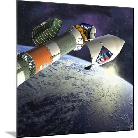 Mars Express Launch, Artwork-David Ducros-Mounted Photographic Print