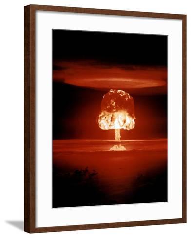 Hydrogen Bomb Explosion-u.s. Department of Energy-Framed Art Print