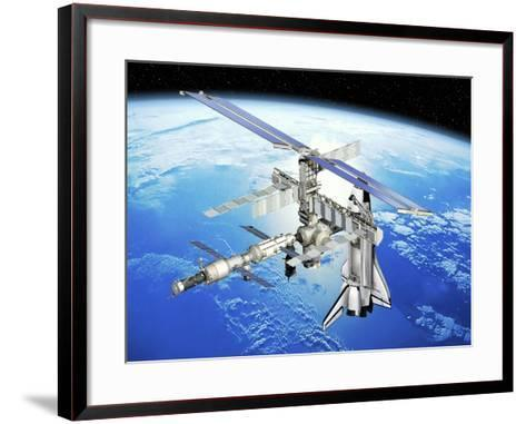Astrolab Mission To the ISS, Artwork-David Ducros-Framed Art Print