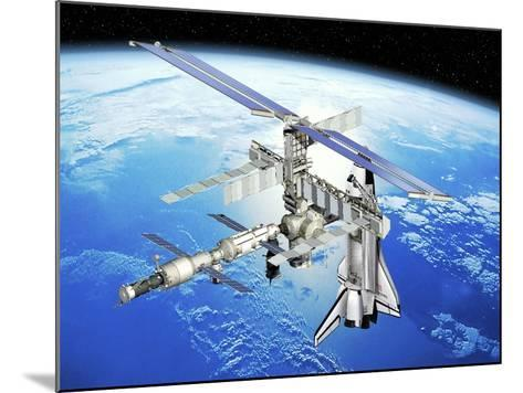 Astrolab Mission To the ISS, Artwork-David Ducros-Mounted Photographic Print