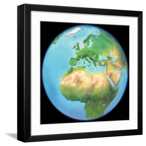 Earth Globe, Artwork-Gary Gastrolab-Framed Art Print