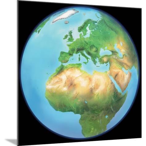 Earth Globe, Artwork-Gary Gastrolab-Mounted Photographic Print