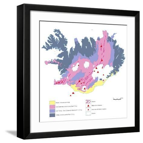 Geological Map of Iceland-Gary Gastrolab-Framed Art Print