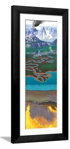 Rock Formation And Erosion Cycle-Jose Antonio-Framed Art Print