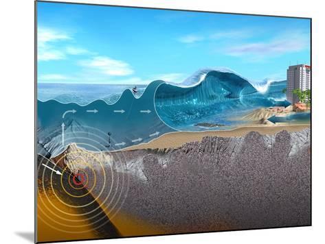 Underwater Earthquake And Tsunami-Jose Antonio-Mounted Photographic Print