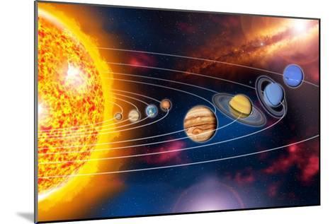 Solar System Planets-Jose Antonio-Mounted Photographic Print