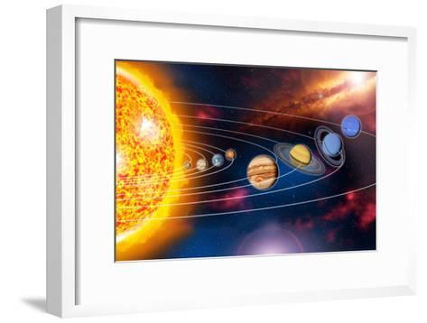 Solar System Planets-Jose Antonio-Framed Art Print