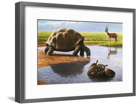Giant Tortoise-Mauricio Anton-Framed Art Print