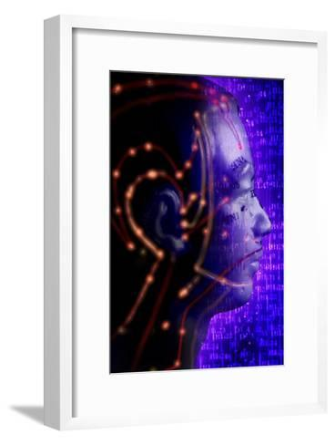 Chinese Acupuncture Model-Doncaster and Bassetlaw-Framed Art Print