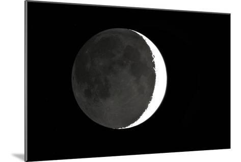 Crescent Moon And Earthshine-Dr. Juerg Alean-Mounted Photographic Print