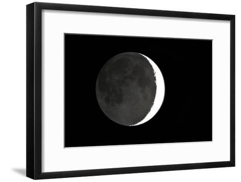 Crescent Moon And Earthshine-Dr. Juerg Alean-Framed Art Print