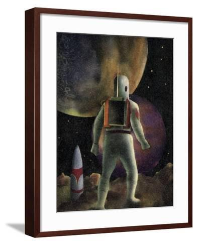 Space Exploration Science-fiction Artwork-CCI Archives-Framed Art Print