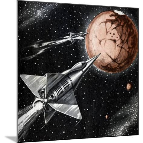 Space Exploration Science-fiction Artwork-CCI Archives-Mounted Photographic Print