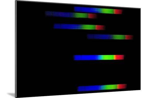 Pleiades Emission Spectra-Dr. Juerg Alean-Mounted Photographic Print