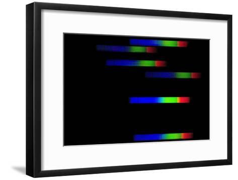 Pleiades Emission Spectra-Dr. Juerg Alean-Framed Art Print