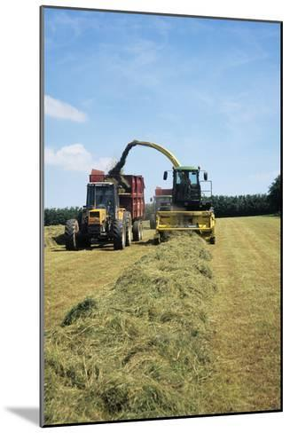 Silage Making-David Aubrey-Mounted Photographic Print
