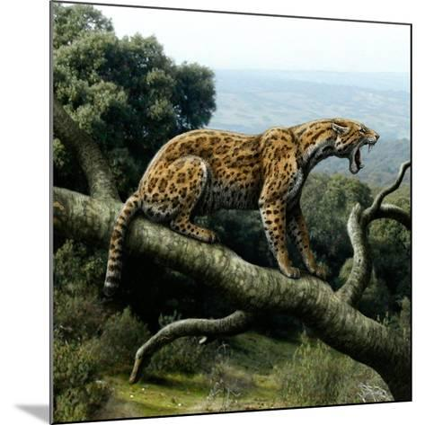 Promegantereon Sabre-tooth Cat, Artwork-Mauricio Anton-Mounted Photographic Print
