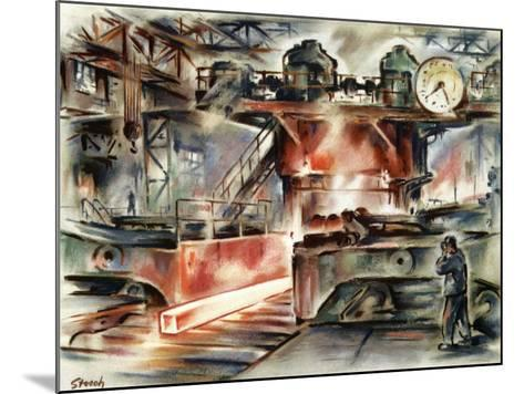 Oberhausen Steelworks, Artwork-CCI Archives-Mounted Photographic Print