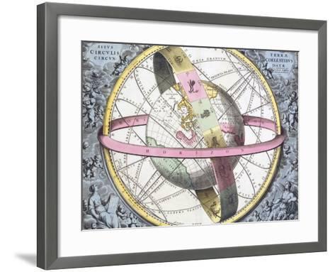Earth's Celestial Circles, 1708 Artwork-Royal Astronomical Society-Framed Art Print