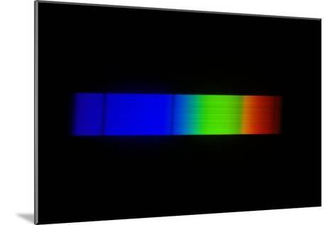 Sirius Emission Spectrum-Dr. Juerg Alean-Mounted Photographic Print