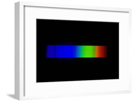 Sirius Emission Spectrum-Dr. Juerg Alean-Framed Art Print