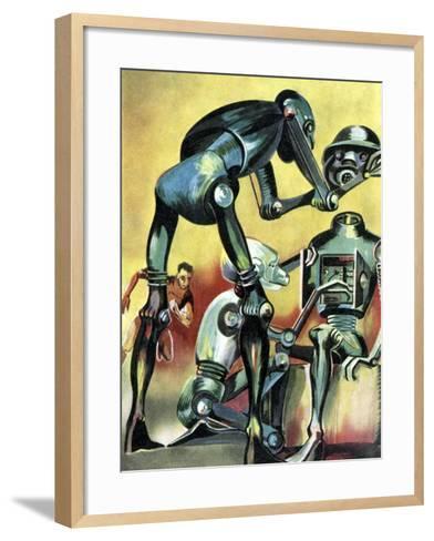 Robot Science-fiction Artwork-CCI Archives-Framed Art Print