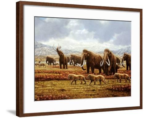 Woolly Mammoths-Mauricio Anton-Framed Art Print