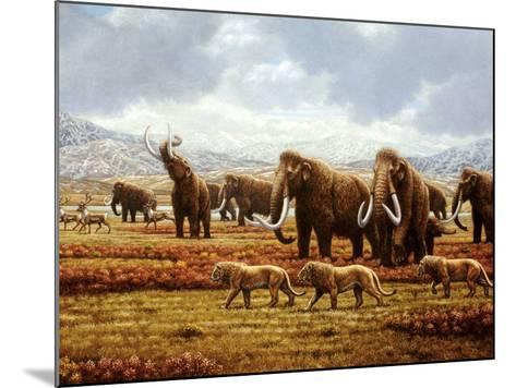 Woolly Mammoths-Mauricio Anton-Mounted Photographic Print
