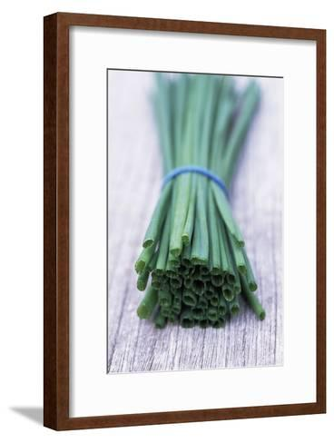 Bunch of Chives-Maxine Adcock-Framed Art Print