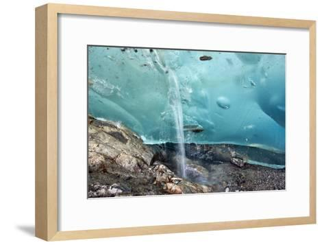 Glacial Cave, Switzerland-Dr. Juerg Alean-Framed Art Print