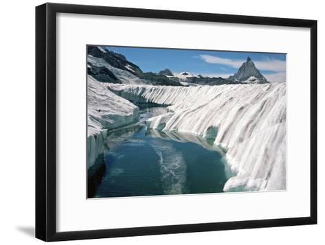 Meltwater Pond, Switzerland-Dr. Juerg Alean-Framed Art Print