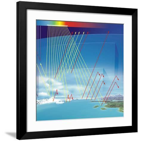 Earth's Atmosphere And Solar Radiation-Jose Antonio-Framed Art Print